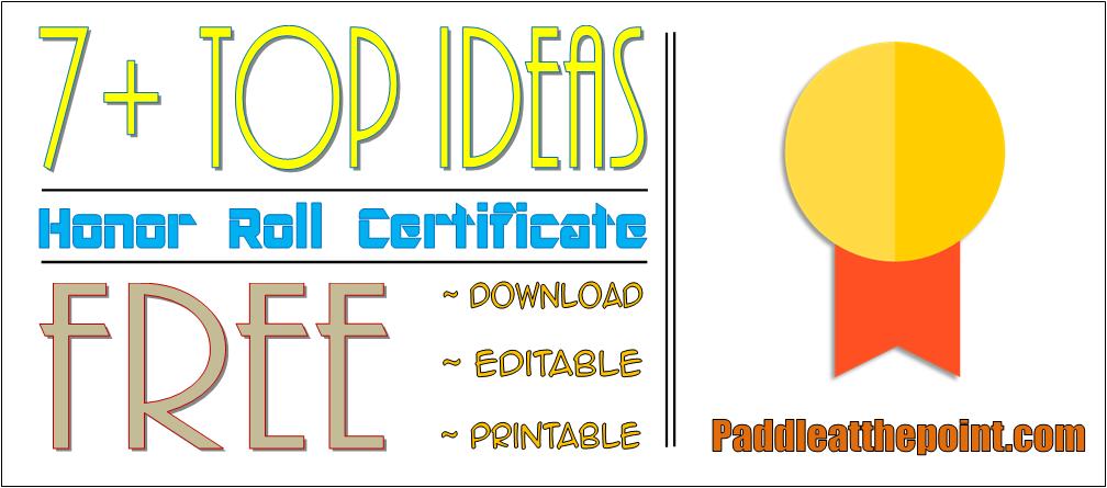 free editable honor roll certificate template, honor roll certificate free printable, high school honor certificate