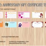 Anniversary Gift Certificate Templates Paddle