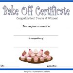 Bake Off Certificate Template 5
