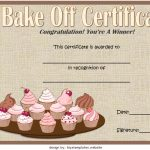 Bake Off Certificate Template 7