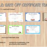 Bake Off Certificate Templates Paddle