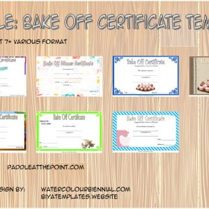 Bake Off Certificate Template