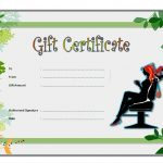 Beauty Salon Gift Certificate 3