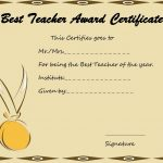Best Teacher Certificate Template 1