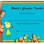 Best Teacher Certificate Template 10
