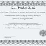 Best Teacher Certificate Template 3