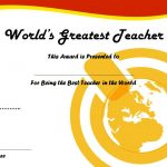 Best Teacher Certificate Template 4