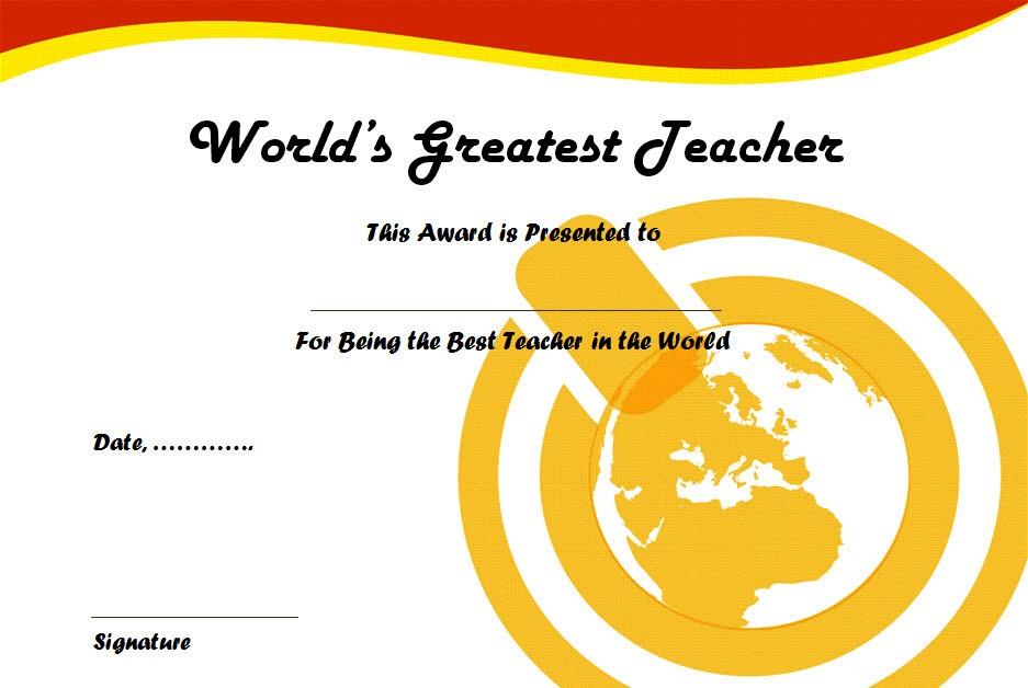 Best Teacher Certificate Templates 10 Fresh Ideas