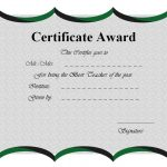 Best Teacher Certificate Template 6