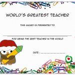 Best Teacher Certificate Template 9
