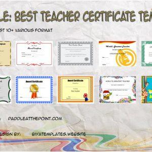 Best Teacher Certificate Templates