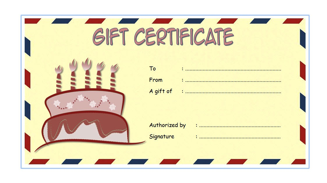 Happy Birthday Gift Certificate 7 Template Ideas
