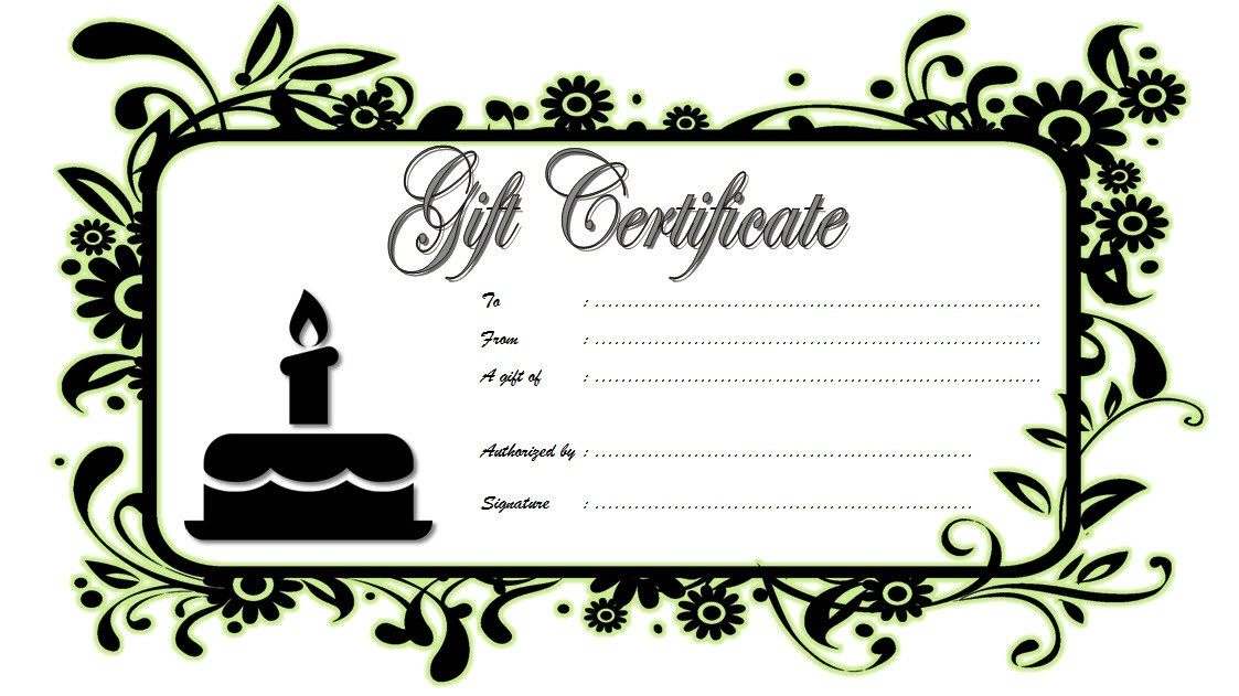 Happy Birthday Gift Certificate 3 Template Microsoft Word Voucher