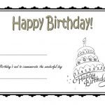 Happy Birthday Gift Certificate 3