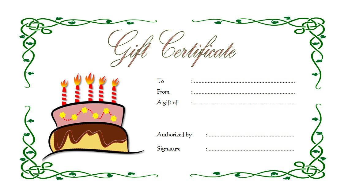 Happy Birthday Gift Certificate 1 Template Microsoft Word Voucher