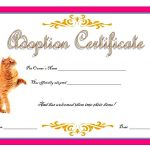 Cat Adoption Certificate Template