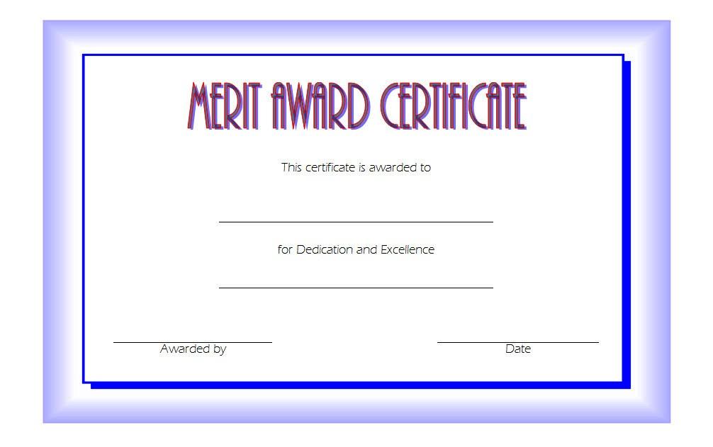 Certificate Of Merit Award Template 1
