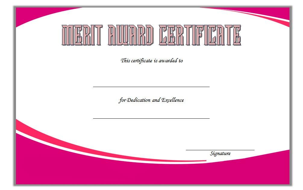 Certificate Of Merit Award Template 3