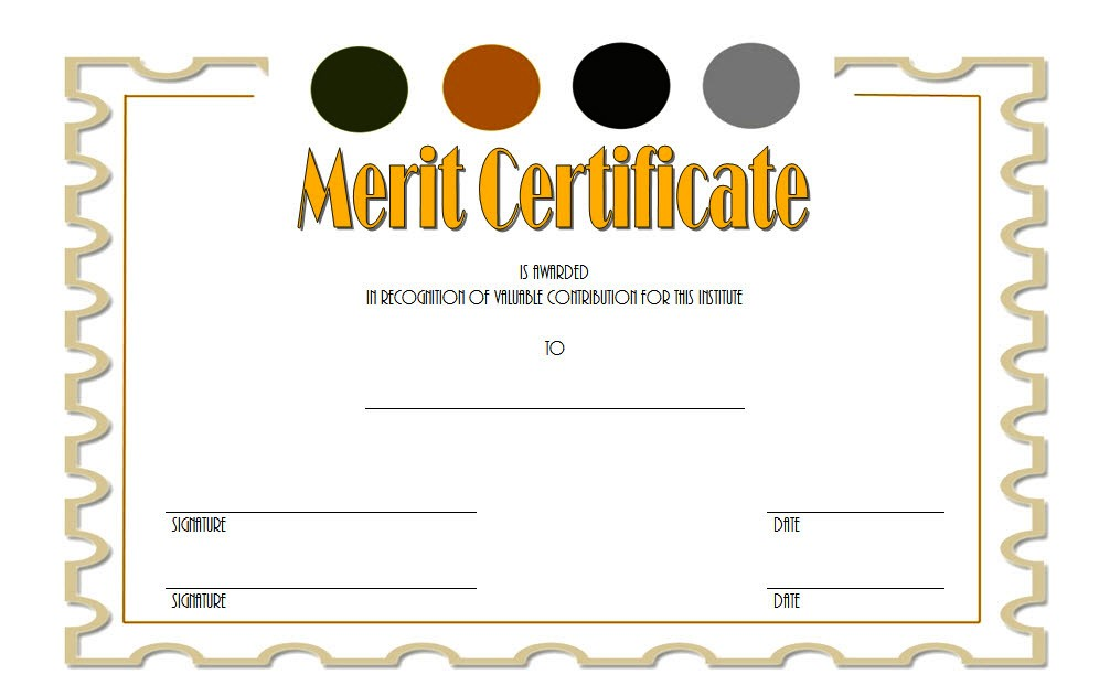 Merit Award Certificate Templates For Students Of Sample