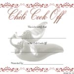 Chili Cook Off Certificate Template