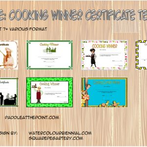 Cooking Competition Certificate Templates