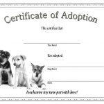 Dog Adoption Certificate Template 1