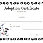 Dog Adoption Certificate Template 3