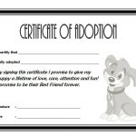 Dog Adoption Certificate Template 4