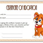 Dog Adoption Certificate Template