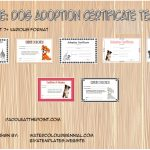 Dog Adoption Certificate Templates Paddle