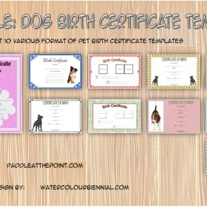 Puppy Birth Certificate Template