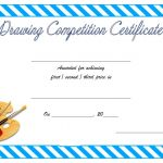 Drawing Competition Certificate Template 3
