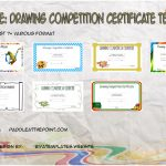 Drawing Competition Certificate Templates By Paddle