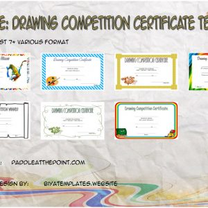 Drawing Competition Certificate Templates