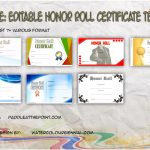 Editable Honor Roll Certificate Templates By Paddle