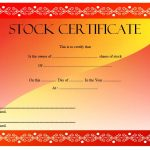 Editable Stock Certificate Template 5