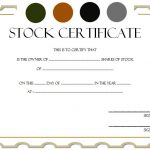 Editable Stock Certificate Template 6