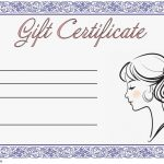 Hair Salon Gift Certificate Templates