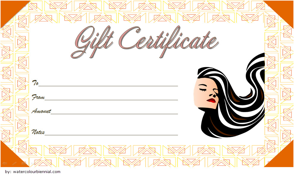 Hair Salon Gift Certificate Template 2