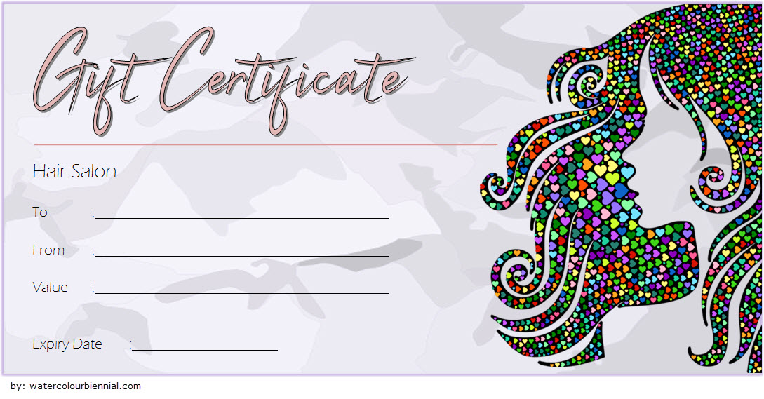 Hair Salon Gift Certificate Template 6 Paddle At The Point