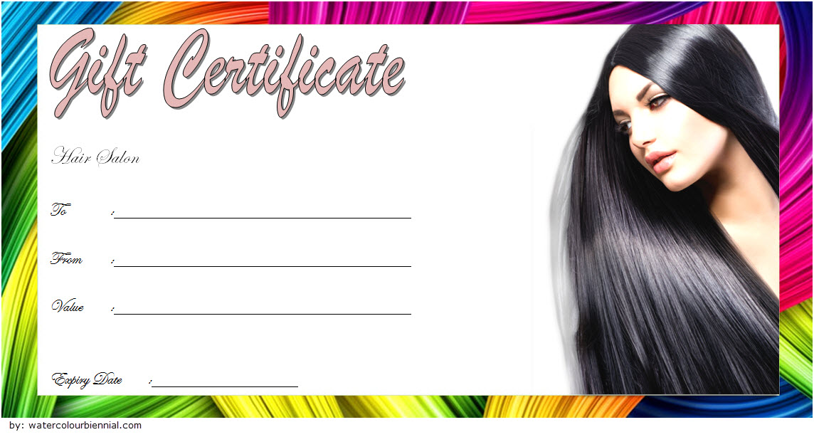 Hair Salon Gift Certificate Template 7