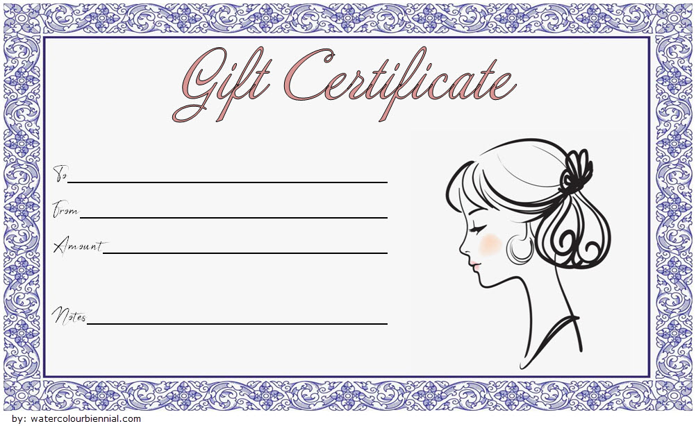 Hair Salon Gift Certificate Template Paddle At The Point