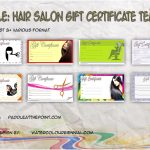 Hair Salon Gift Certificate Templates By Paddle