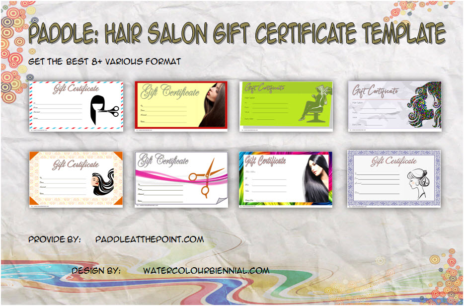 hair salon gift certificate templates paddle at the point paddle