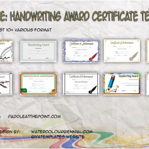 Handwriting Award Certificate Printable