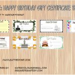 Happy Birthday Gift Certificate Templates Paddle