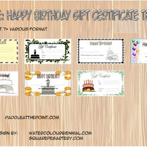 Happy Birthday Gift Certificate