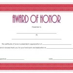 Honor Award Certificate Template 1