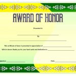 Honor Award Certificate Template 2