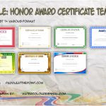 Honor Award Certificate Templates By Paddle